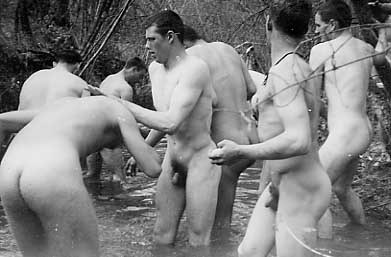 Inde Of Vintage Treasure Trove French Soldiers Bathing Nude